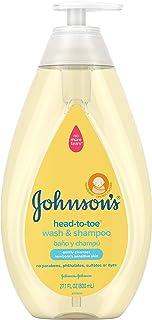 Johnson's Head-To-Toe Gentle Baby Wash & Shampoo, Tear-Free, Sulfate-Free &..