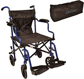 Elite Care Super Lightweight Folding Transport Travel Wheelchair in a Bag ECTR05 with..