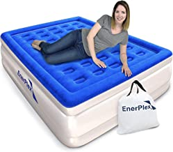 EnerPlex Never-Leak Queen Air Mattress with Built in Pump Raised Luxury Airbed Double..