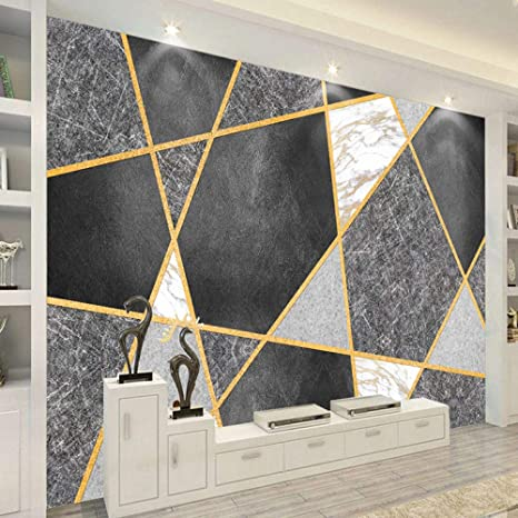 Amazon Com Luowan Kid S Room Nursery Large Photo Wallpaper Wall Mural Golden Geometric Creative Removable Self Adhesive Wallpaper Wall Decoration For Bedroom Living Room Tools Home Improvement