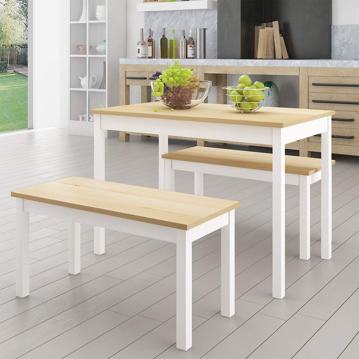 Xiaolong Solid Pine Wooden Dining Set Ta Buy Online In Costa Rica At Desertcart