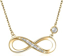 """Collana in argento sterling 925 - Billie Bijoux""""Infinito amore"""" Infinito Cuore Pendente oro bianco placcato oro Diamond Donna Collana regolabile"""