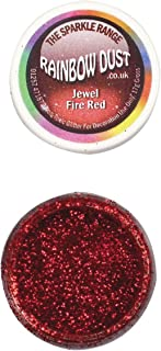 Paillette Bijou Rouge feu Rainbow dust