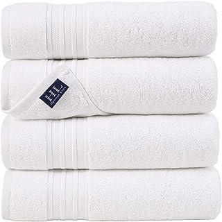 Hammam Linen 100% Cotton 27×54 4 Piece Set Bath Towels White Super Soft and..
