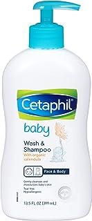 Cetaphil Baby Wash & Shampoo with Organic Calendula |Tear Free | Paraben, Colorant..