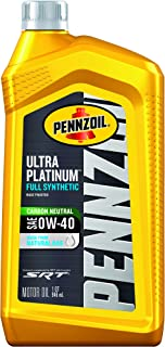 Pennzoil Ultra Platinum Full Synthetic 0W-40 Motor Oil (1 Quart, Case of 6) (550040856-6PK)