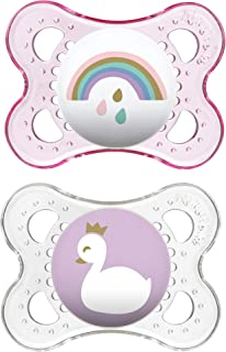 MAM Clear Collection Pacifiers (2 pack, 1 Sterilizing Pacifier Case), MAM Pacifier 0-6..