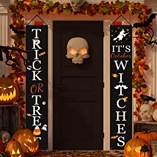 Halloween Decorations Outdoor | Trick or Treat & It's October Witches Halloween..