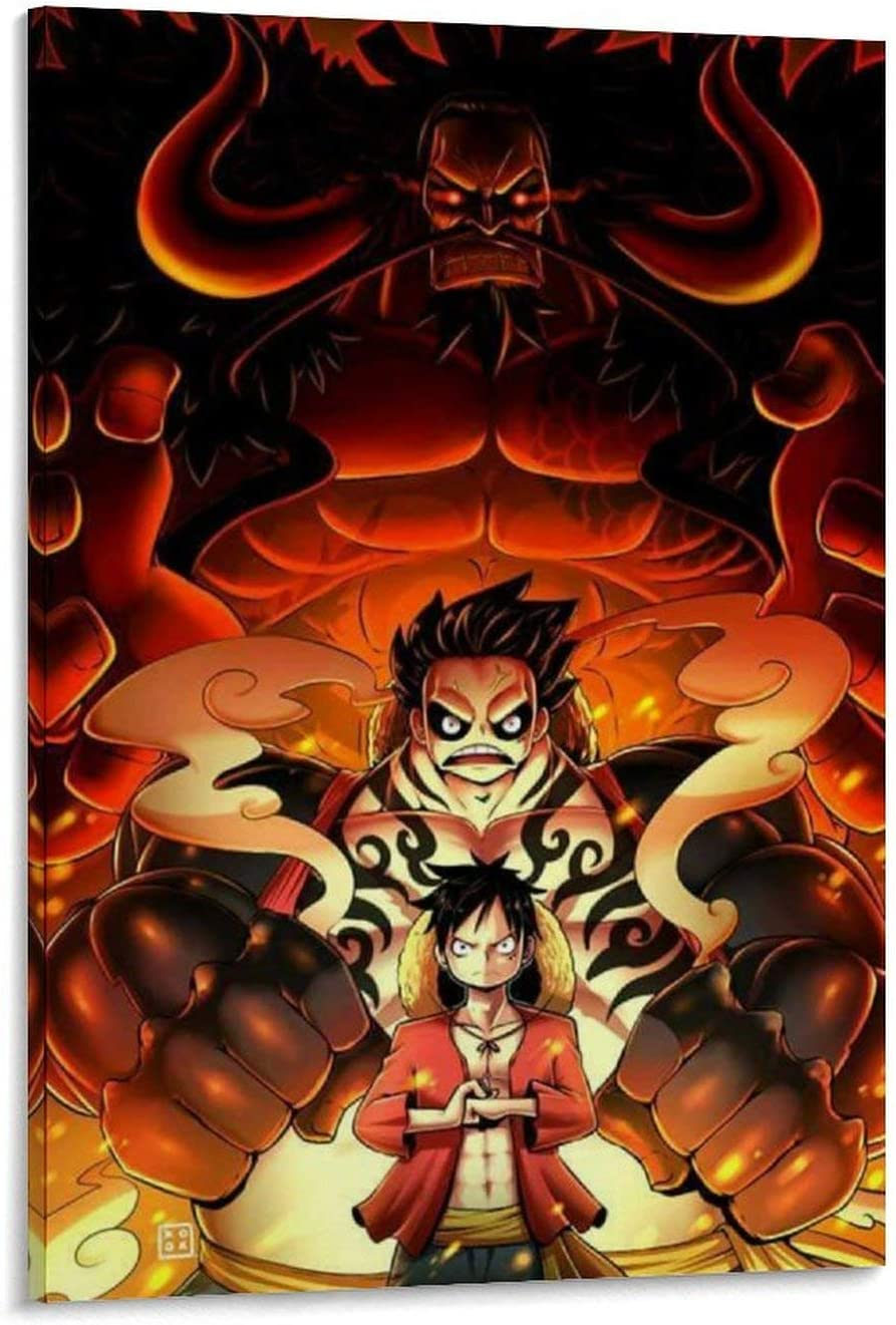 Amazon Com Bdfg Anime One Piece Wano Wallpaper Phone Canvas Art Poster And Wall Art Picture Print Modern Family Bedroom Decor Posters 12x18inch 30x45cm Home Kitchen
