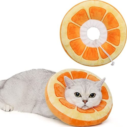 Adjustable Cat Cone Collar | Soft Pillow Style