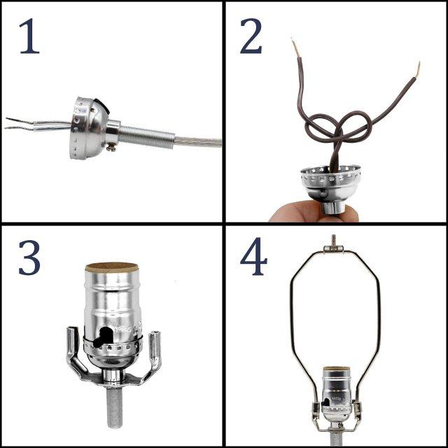 Creative Hobbies Make a Lamp  Repair or Rewiring Kit - 13 Foot