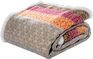 Eddie Bauer | Brushed Fleece Collection | Throw Blanket-Reversible Sherpa Cover, Soft..