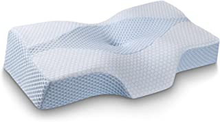 Mkicesky Side Sleeper Contour Memory Foam Pillow, Orthopedic Sleeping Pillow, Ergonomic..
