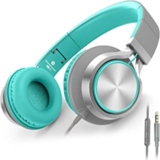 AILIHEN C8 Headphones with Microphone and Volume Control Folding Lightweight Headset for..
