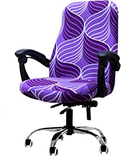 Deisy Dee Computer Office Chair Covers for Stretch Rotating Mid Back Chair Slipcovers..