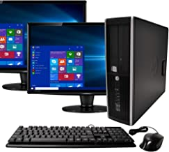 HP Elite Desktop Computer Intel Quad Core i5 3.1-GHz, 8 GB Ram, 1 TB, Dual 19in LCD..