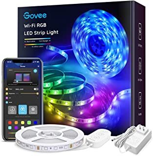 Govee Smart WiFi LED Strip Lights Works with Alexa, Google Home Brighter 5050 LED, 16..