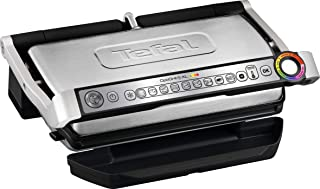 T-fal GC722D53 1800W OptiGrill XL Stainless Steel Large Indoor Electric Grill with..