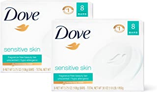 Dove Beauty Bar Gently Cleanses and Nourishes Sensitive Skin Effectively Washes Away..