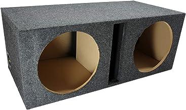 "Car Audio Dual 12"" Vented Subwoofer Stereo Sub Box Ported Enclosure 5/8"" MDF"