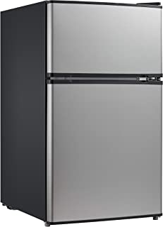 Midea 3.1 Cu. Ft. Compact Refrigerator, WHD-113FSS1 – Stainless Steel