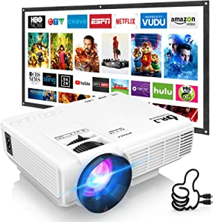 DR. J Professional HI-04 Mini Projector Outdoor Movie Projector with 100Inch Projector..