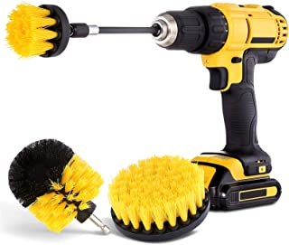 HIWARE Drill Brush Attachment Set – Power Scrubber Brush Cleaning Kit – All..