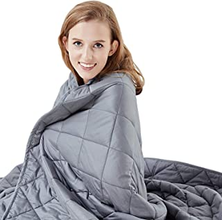 "Hypnoser Weighted Blanket Twin Size (15 lbs 48""x72"" ) for Kids and Adults 