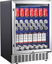 Aobosi 24 Inch Beverage Cooler, 164 Cans Freestanding and Built-in Beverage Refrigerator..