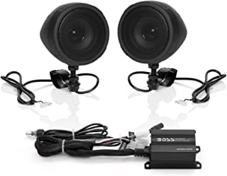 Boss Audio Systems MCBK420B Motorcycle Bluetooth Speaker System – Class D Compact..
