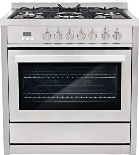 "Cosmo COS-F965NF 36"" Dual Fuel Range with 5 Burners and 3.8 cu. ft. Electric.."