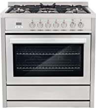 """Cosmo COS-F965NF 36"""" Dual Fuel Range with 5 Burners and 3.8 cu. ft. Electric.."""