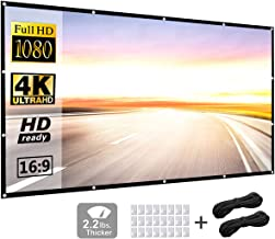 Projector Screen 120 inch 16:9 HD Foldable Anti-Crease Portable Projection Movies Screen..