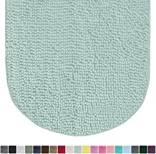 Gorilla Grip Original Luxury Chenille Oval Bath Rug Mat, 42×24, Extra Soft and..