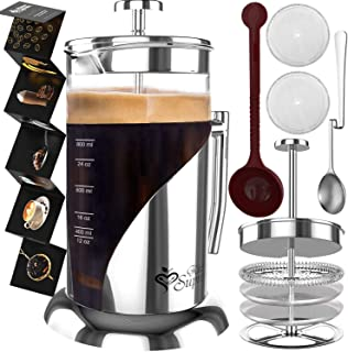 French Press Coffee Maker – BEST Presses Makers – 34 Oz, 8 Cup – The..