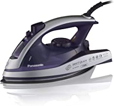 Panasonic Dry and Steam Iron with Alumite Soleplate, Fabric Temperature Dial and Safety..