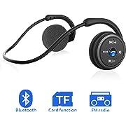 Cuffie Bluetooth Senza Fili Sport Supporto Scheda Micro SD e Radio FM Pieghevole Leggeri, Wireless Auricolari da Corsa Bluetooth Bass+ HiFi Stereo Pieghevoli Portatile con Mic per Tutti i Dispositivi