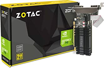ZOTAC GeForce GT 710 2GB DDR3 PCI-E2.0 DL-DVI VGA HDMI Passive Cooled Single Slot Low..