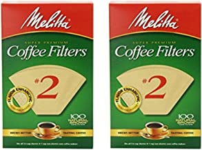 Melitta Cone Coffee Filter #2 – Natural Brown 100 Count (2 Pack)