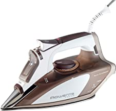 Rowenta DW5080 1700-Watt Micro Steam Iron Stainless Steel Soleplate with Auto-Off, 400-Hole, Brown