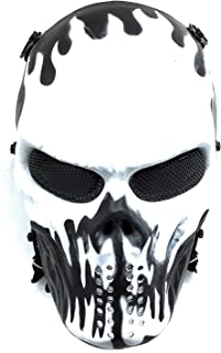 Everlife Shop CS Protective Mask Halloween Airsoft Paintball Full Face Skull Skeleton Mask