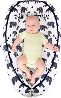 Baby Lounger, Baby Nest and Baby Bassinet, Portable Ultra Soft Breathable Newborn Lounger..