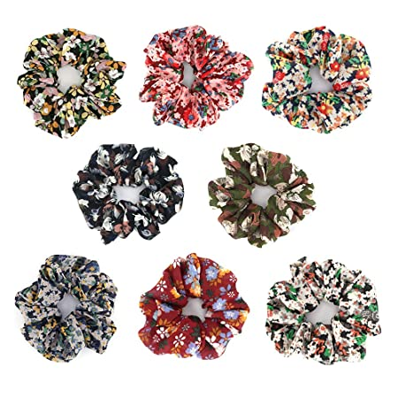 accessories amazon cute scrunchies with flowers