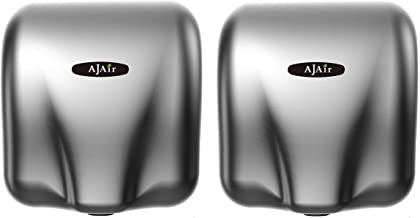 AjAir (2 Pack Heavy Duty Commercial 1800 Watts High Speed Automatic Hot Hand Dryer..