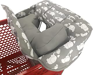 Soft Pillow Attached 2-in-1 Shopping Cart and High Chair Cover for..