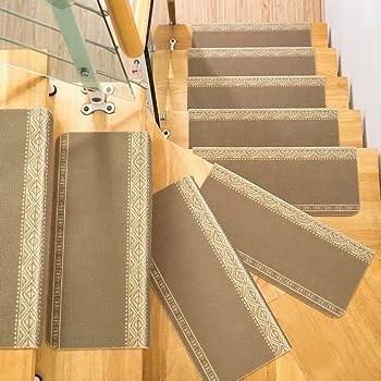Vocool Pack Of 5 Carpet Stair Treads Anti Skid Stairs Rug Non | 7 Inch Carpet Stair Treads | Indoor Outdoor | Non Slip | Slip Resistant | Rug Styles | Tread Covers