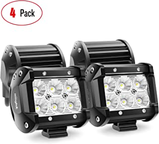 Nilight LED Light Bar 4PCS 4 Inch 18W LED Bar 1260lm Flood Led Off Road Driving Lights..