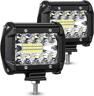AMBOTHER LED Pods Light Bar 4-Inch 120-watt 12800-lumen Driving Fog Off Road Lights..