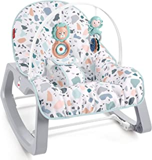 Fisher-Price Infant-to-Toddler Rocker – Pacific Pebble, Portable Baby Seat, Multi