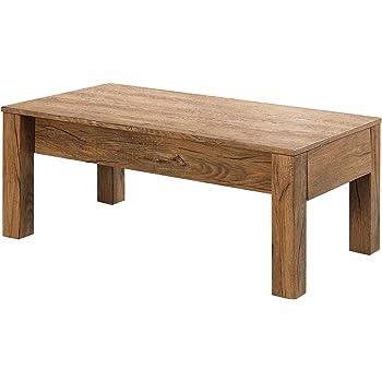 Amazon Com Furniture Of America Luiza Contemporary Coffee Table With Lift Top Storage Rustic Oak Furniture Decor